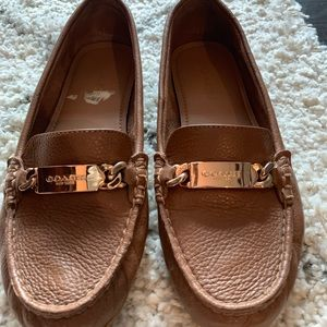 Coach brown women's leather loafers size 8.5